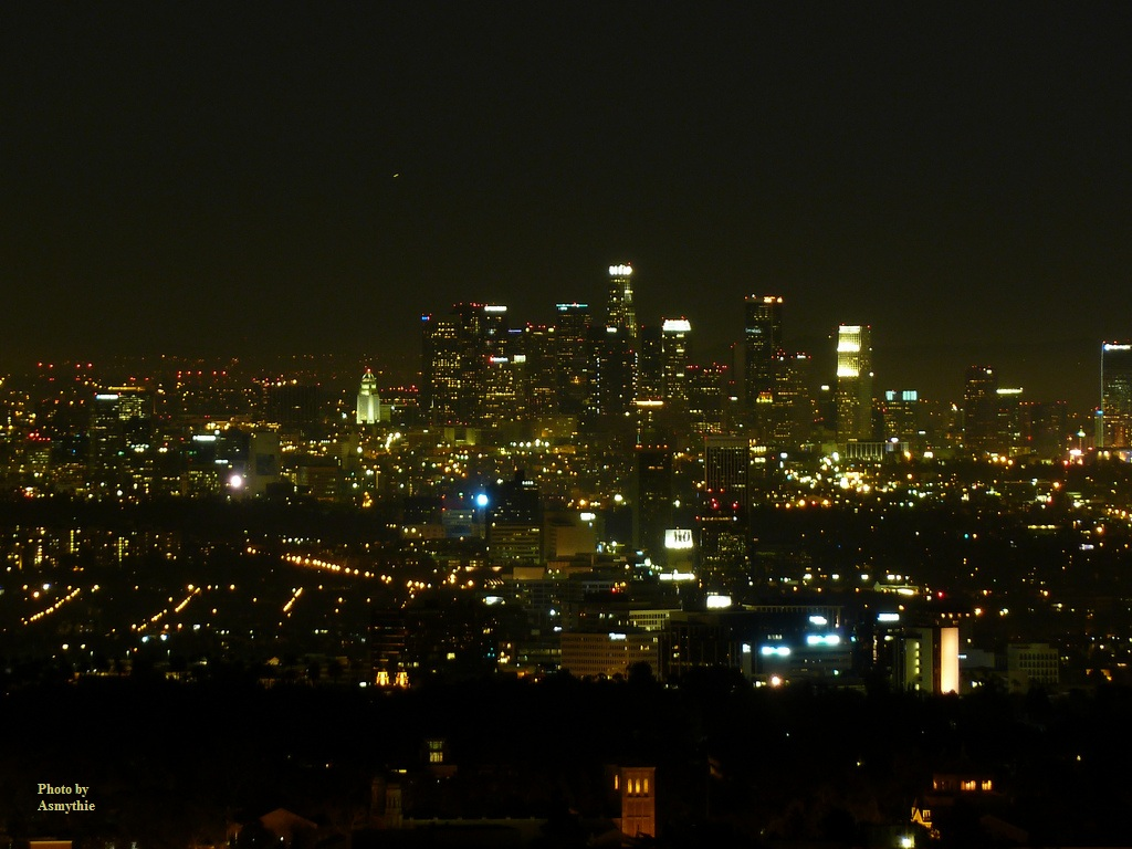 Los Angeles, California, downtown, at night
