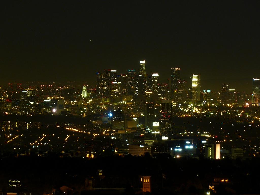 Los Angeles, California, downtown, at night