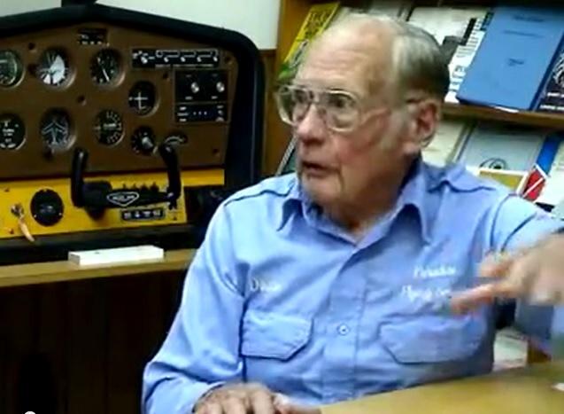 World War II veteran Duane Hodgkinson was interviewed, and videotaped, by Garth Guessman - eyewitness of a ropen