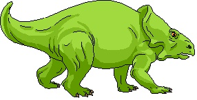 dinosaur colored green