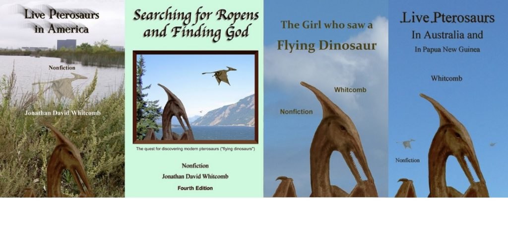 Four cryptozoology books by Jonathan Whitcomb